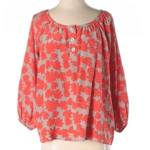 Anthropologie Fire Leaves Blouse Bayla Jane M